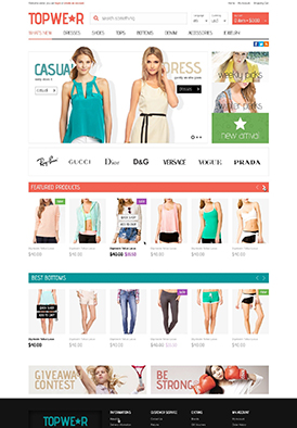 Premium OpenCart Themes - BossThemes Top Wear on ThemeForest