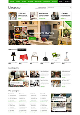Furniture Responsive Opencart Template - Life Space on BossThemes.com