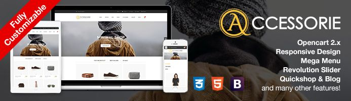 OpenCart 2.2 Theme - Minimal Shoes & Fashion Store