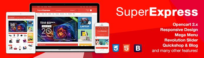 OpenCart 2.2 Theme - Super Express Store