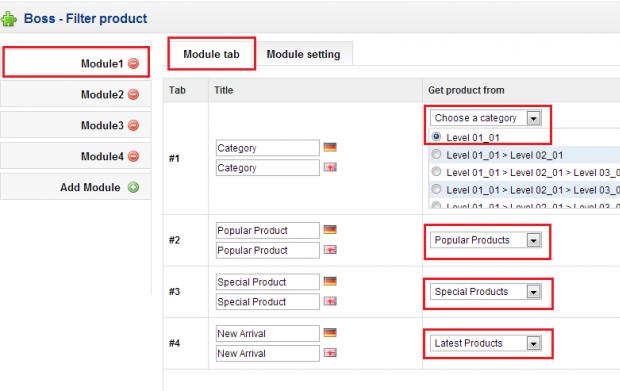 Boss Filter Product - screen 1