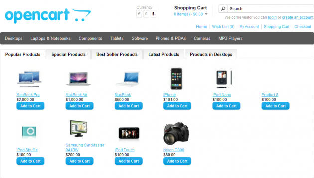 Popular/Bestseller/Special/Latest/Classified Products Module