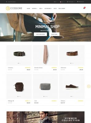 Minimal Accessorie Fashion & Shoes Responsive OpenCart Theme