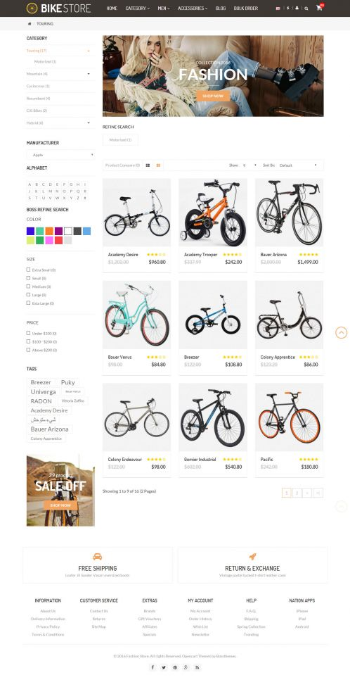 Bossthemes Amazing BikeStore - Category List