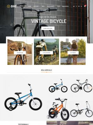 Bikes, Cycling Clothing & Bike Shoes Responsive OpenCart Theme