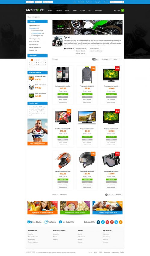 Bossthemes AnziStore - Category Grid