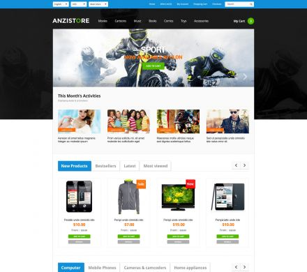 Responisve Opencart Grocery Store - AnziStore