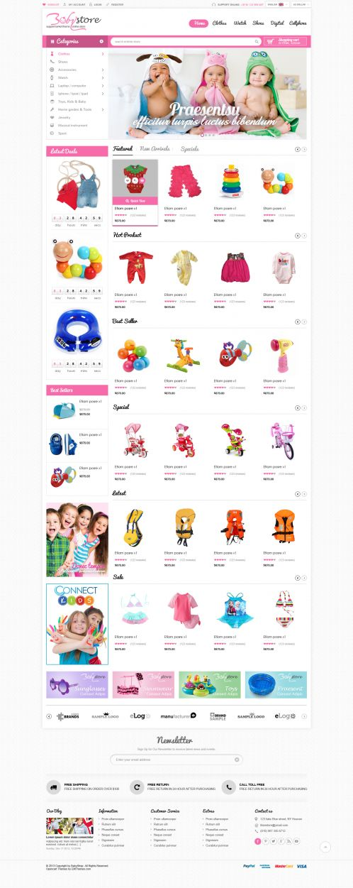 Bossthemes BabyShop - Home 1