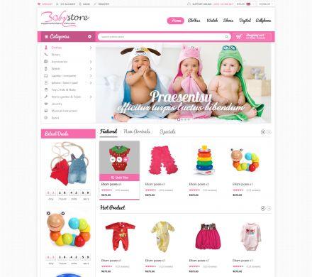 Opencart Baby Apparel Online Template - BabyShop