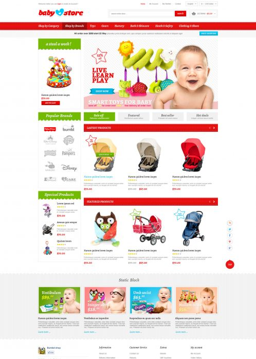 BossThemes BabyStore - Home Red