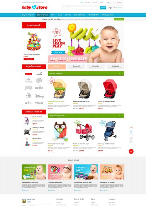 BossThemes BabyStore - Home Blue