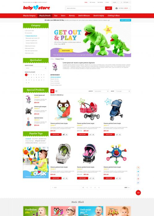 BossThemes BabyStore - Category Grid