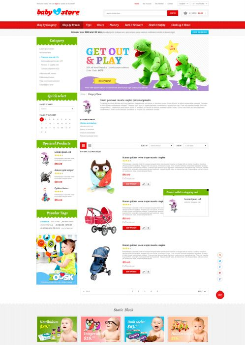 BossThemes BabyStore - Category List