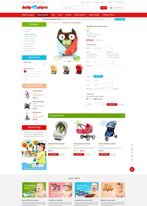 BossThemes BabyStore - Product Details