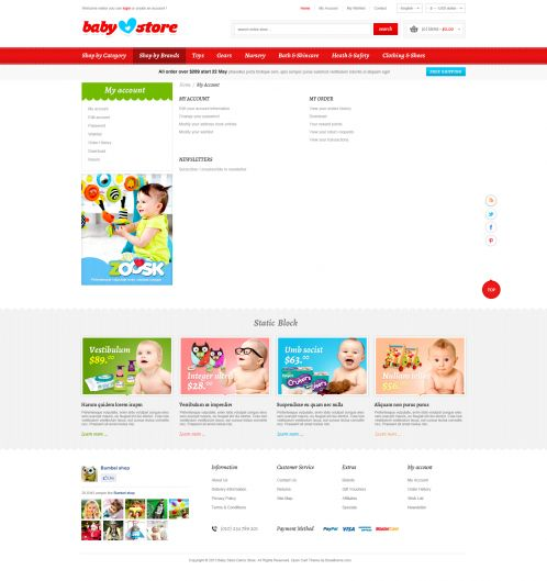 BossThemes BabyStore - My Account