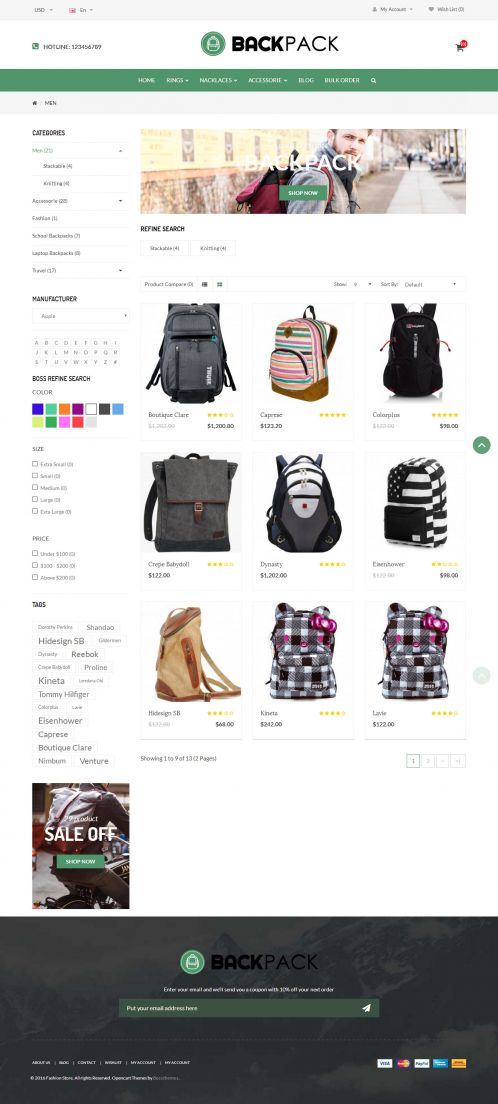 Bossthemes BackPack - Category Grid