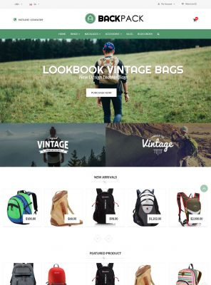 Bags & Luggage - Backpacks Responsive OpenCart Theme