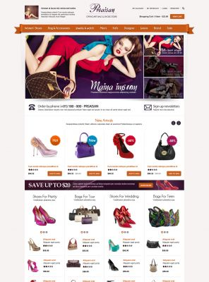 OpenCart Bags and Shoes Theme