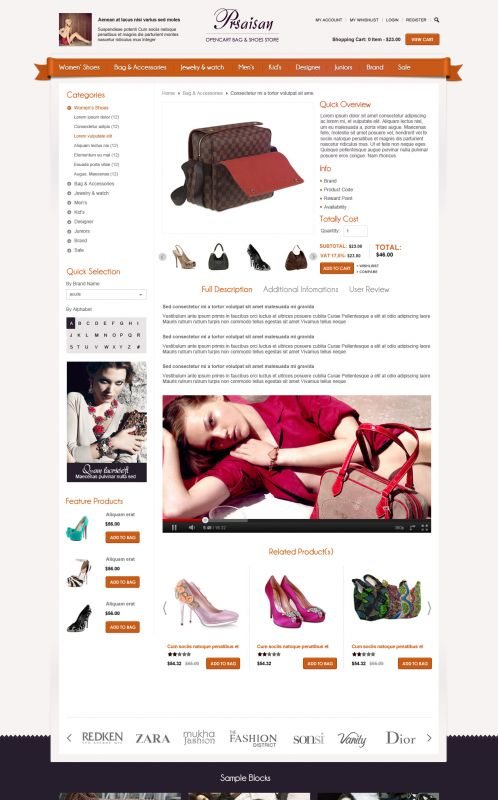 BossThemes Bags and Shoes - OpenCart Bags and Shoes Theme - Product Details