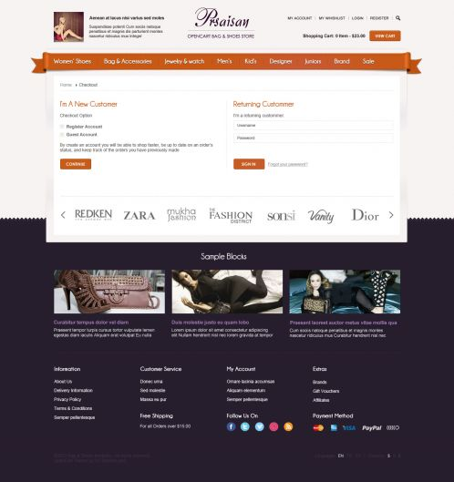 BossThemes Bags and Shoes - OpenCart Bags and Shoes Theme - Checkout