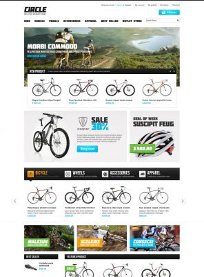 OpenCart Bike Store Theme