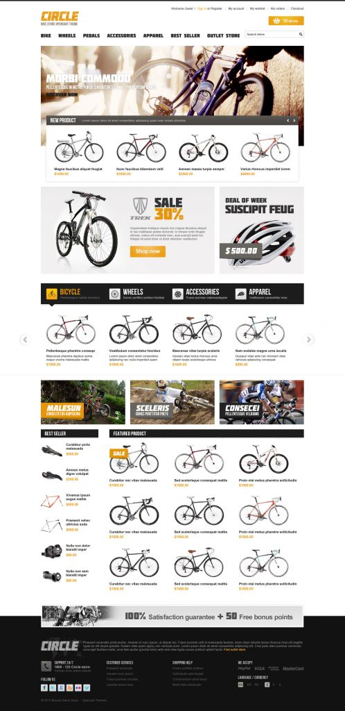 BossThemes BikeStore - OpenCart Bike Store Theme - Home Brown