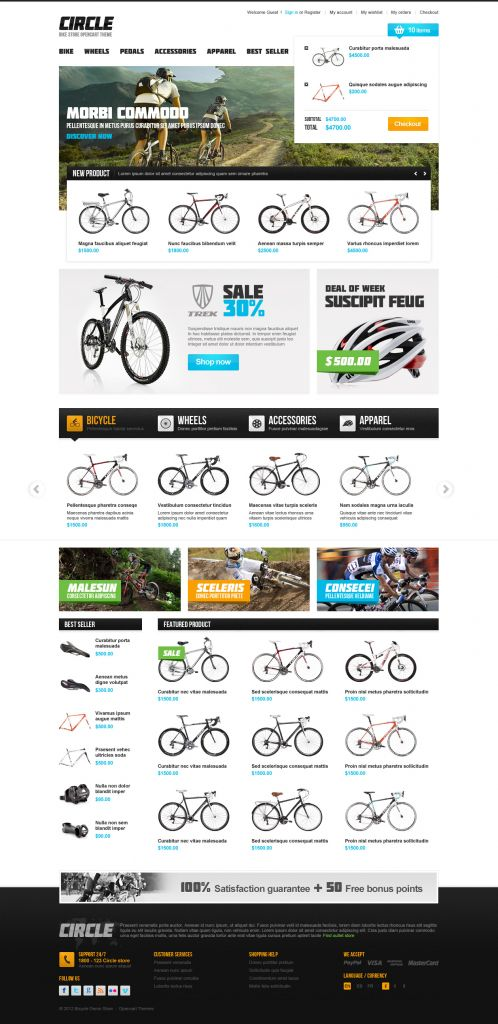 BossThemes BikeStore - OpenCart Bike Store Theme - Shopping Cart