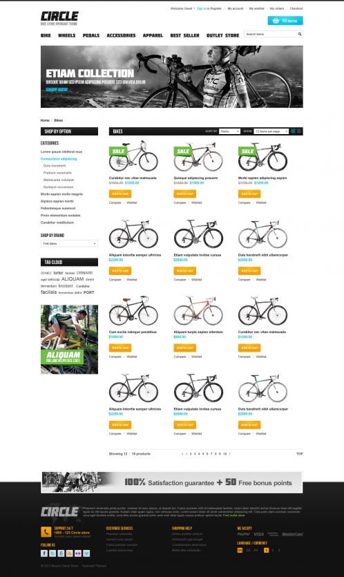 BossThemes BikeStore - OpenCart Bike Store Theme - Category Grid