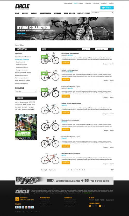 BossThemes BikeStore - OpenCart Bike Store Theme - Category List