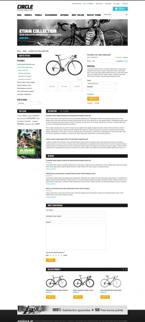 BossThemes BikeStore - OpenCart Bike Store Theme - Product Details