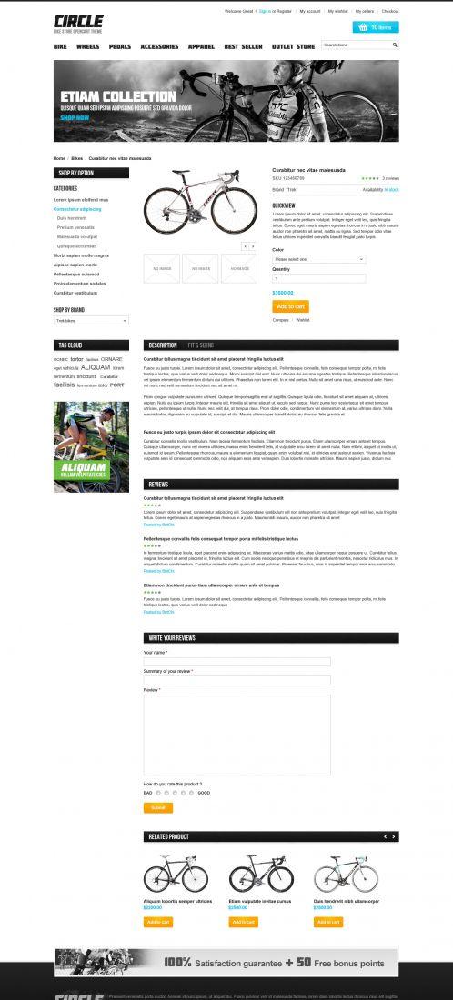 BossThemes BikeStore - OpenCart Bike Store Theme - Product Details