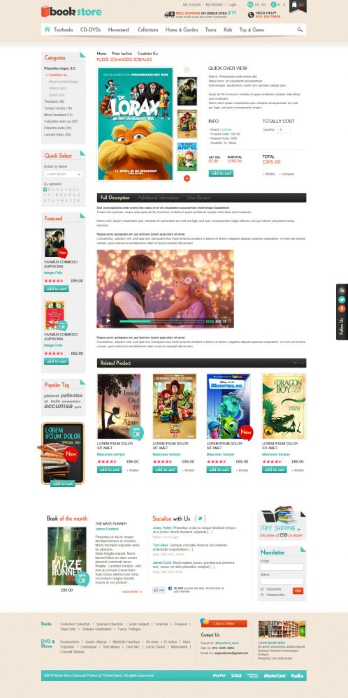 Book Store Responsive OpenCart Theme - Product Details