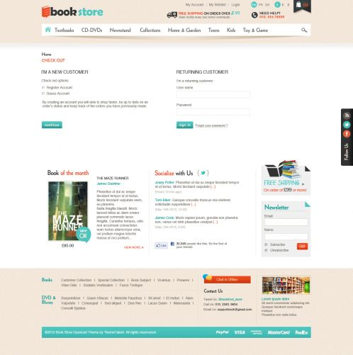 Book Store Responsive OpenCart Theme - Checkout