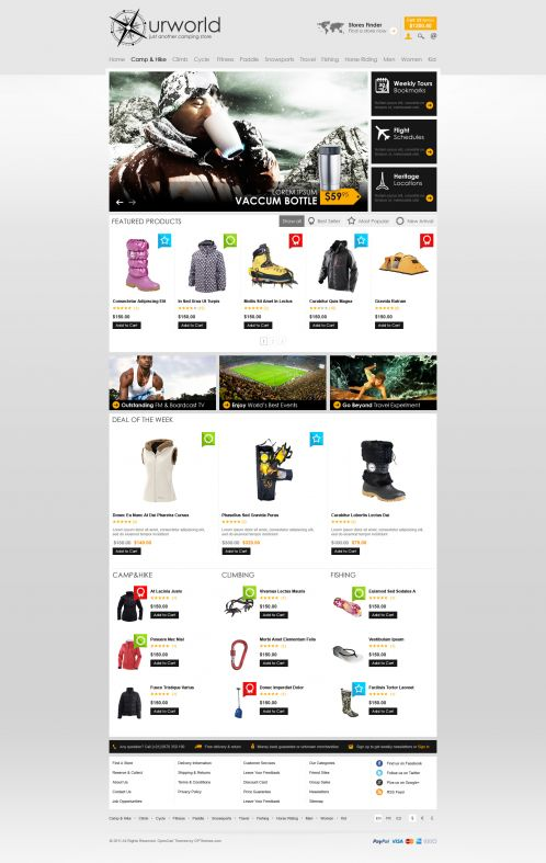 BossThemes CampStore - OpenCart Travel Theme - Home