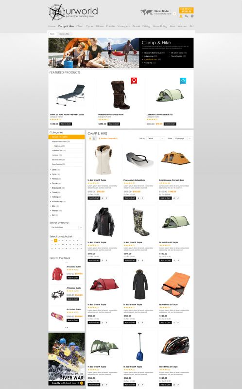 BossThemes CampStore - OpenCart Travel Theme - Category Grid