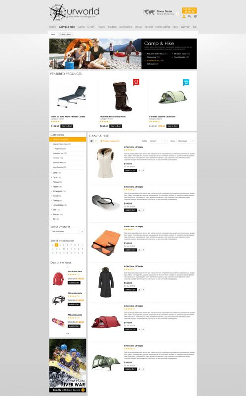 BossThemes CampStore - OpenCart Travel Theme - Category List