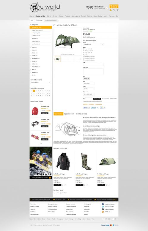 BossThemes CampStore - OpenCart Travel Theme - Product Details