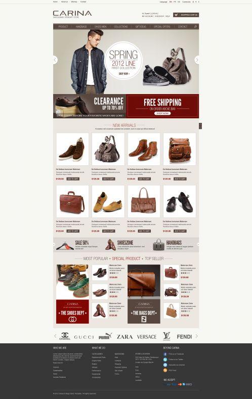 Fashion Responsive OpenCart Theme - Carina - Home