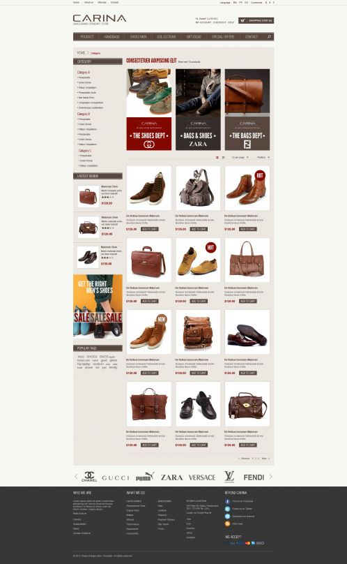 Fashion Responsive OpenCart Theme - Carina - Category Grid