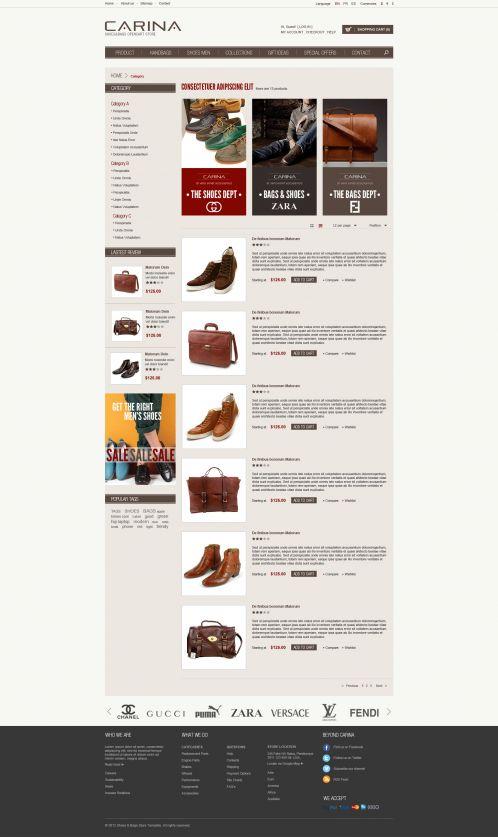 Fashion Responsive OpenCart Theme - Carina - Category List