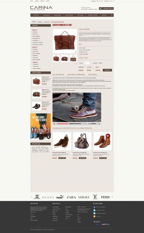 Fashion Responsive OpenCart Theme - Carina - Product Details