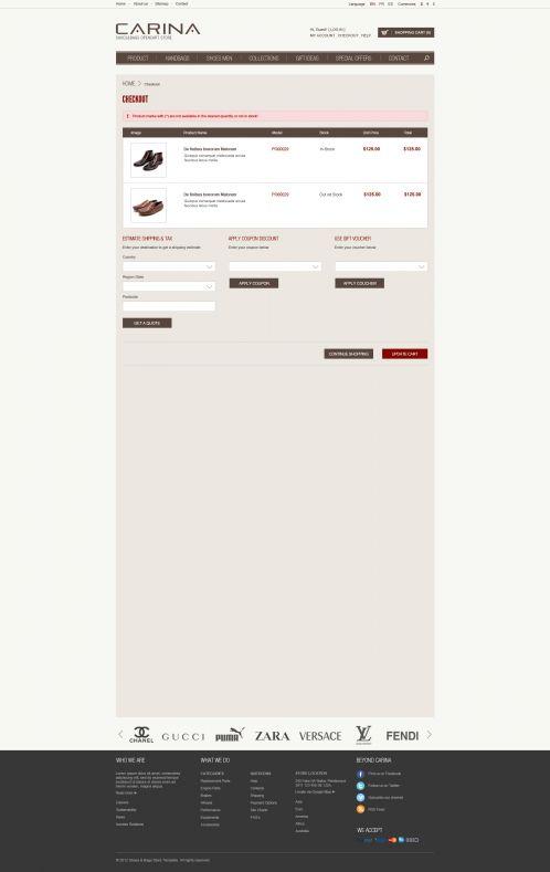 Fashion Responsive OpenCart Theme - Carina - Shopping Cart