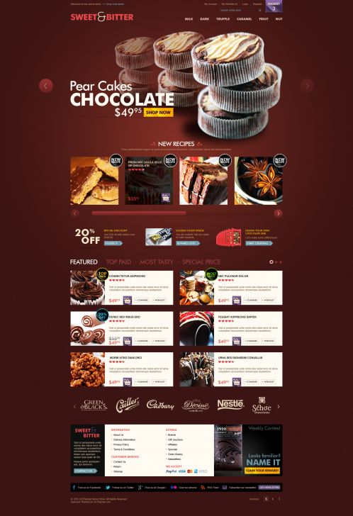 BossThemes Chocolate OpenCart Theme - Home