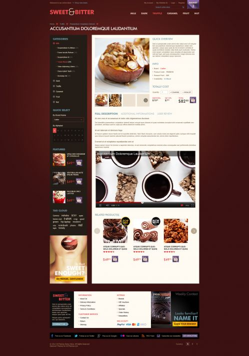 BossThemes Chocolate OpenCart Theme - Product Details