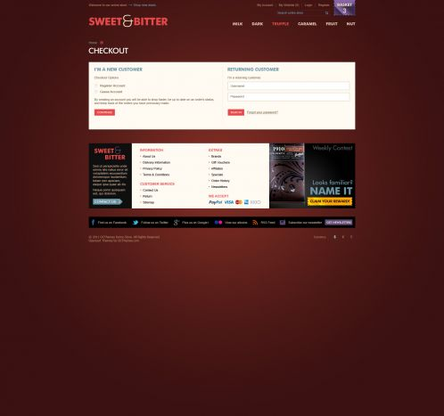 BossThemes Chocolate OpenCart Theme - Checkout