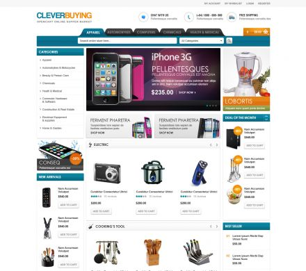 Shopping Mall OpenCart Theme - CleverBuying