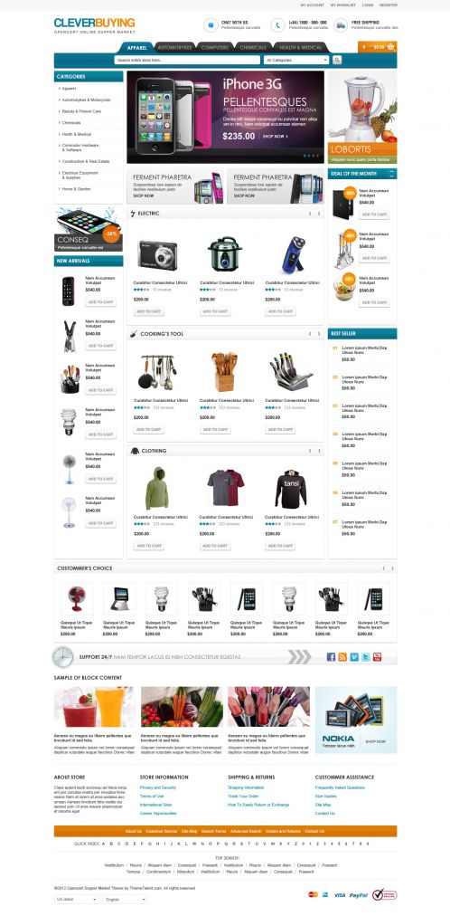 Shopping Mall OpenCart Theme - ClerverBuying - Home