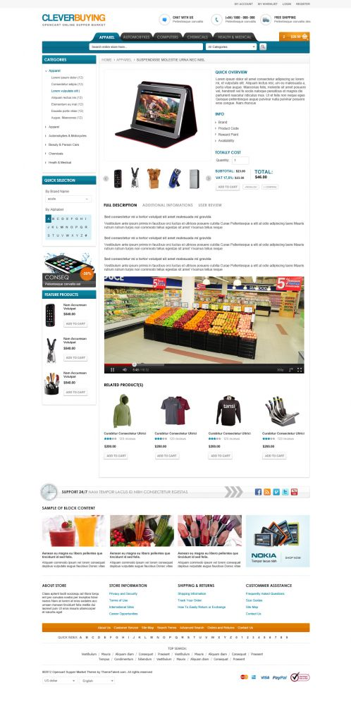 Shopping Mall OpenCart Theme - ClerverBuying - Product Details