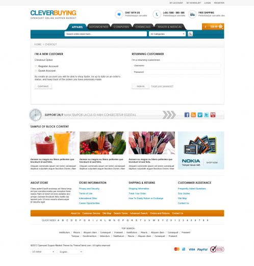 Shopping Mall OpenCart Theme - ClerverBuying - Checkout