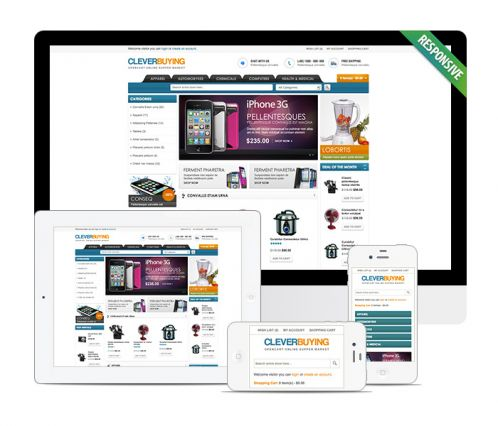 Shopping Mall OpenCart Theme - ClerverBuying
